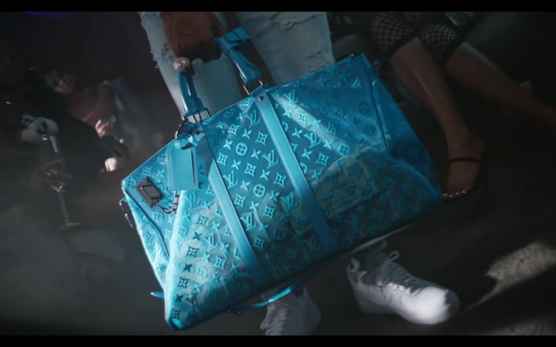 "Louis Vuitton Keepall Bandouliere Monogram Turquoise Mesh Bag in ""Flewed Out"" by City Girls Feat. Lil Baby ("
