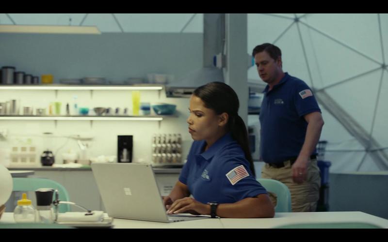 Microsoft Surface Laptop of Diandra Lyle as Alisha Patterson in Moonbase 8 S01E03 TV Show (1)