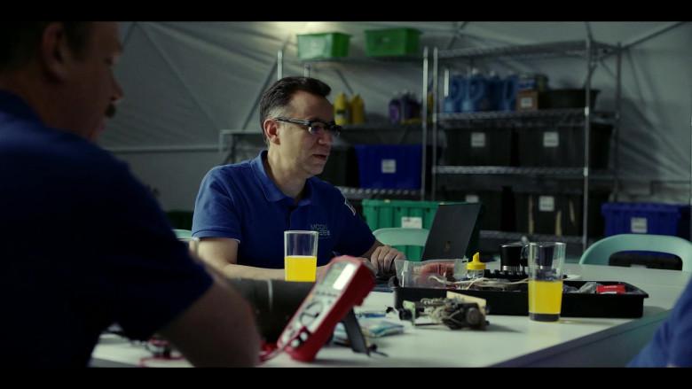 Microsoft Surface Laptop of Fred Armisen as Dr. Michael 'Skip' Henai in Moonbase 8 S01E04 TV Show (1)
