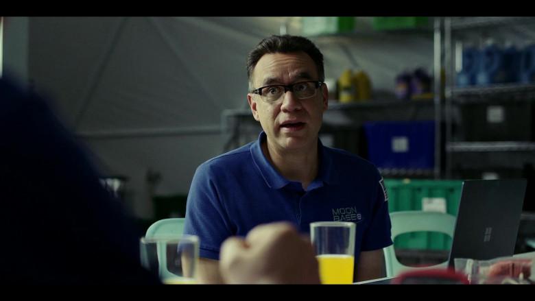 Microsoft Surface Laptop of Fred Armisen as Dr. Michael 'Skip' Henai in Moonbase 8 S01E04 TV Show (2)