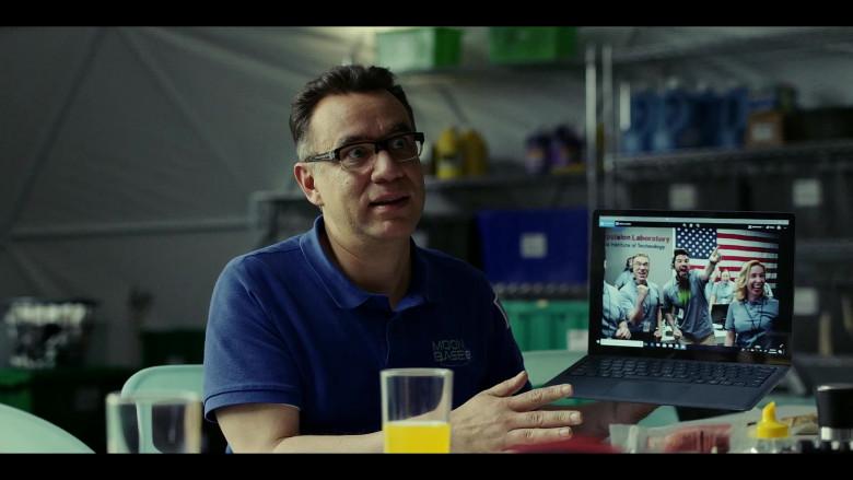 Microsoft Surface Laptop of Fred Armisen as Dr. Michael 'Skip' Henai in Moonbase 8 S01E04 TV Show (3)