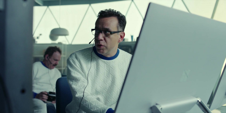 Microsoft Surface Studio AIO Computers of Fred Armisen as Dr. Michael 'Skip' Henai in Moonbase 8 S01E06 TV Show (1)