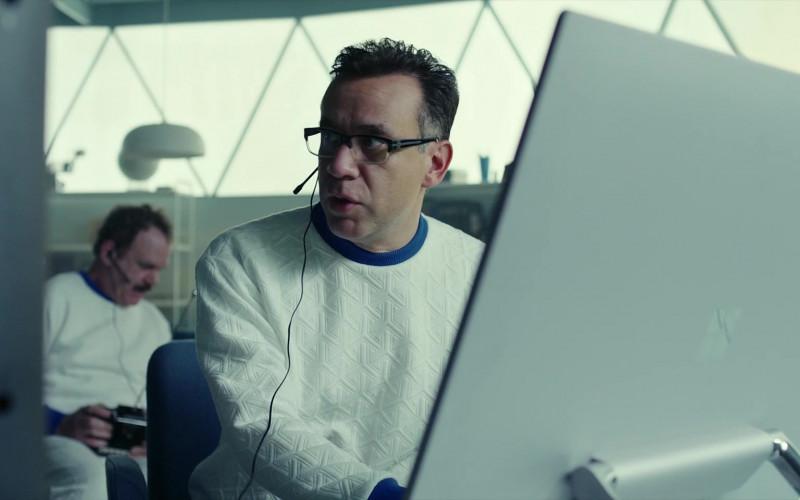Microsoft Surface Studio AIO Computers of Fred Armisen as Dr. Michael 'Skip' Henai in Moonbase 8 S01E06 TV Show (1)