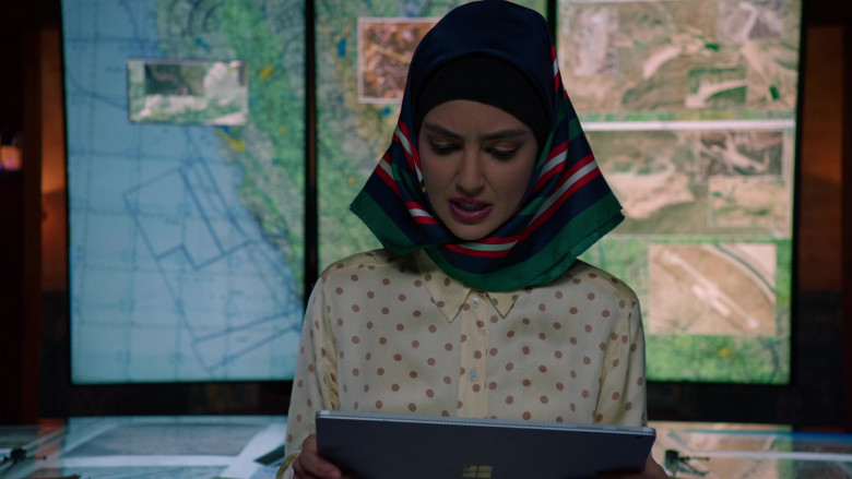 Microsoft Surface Tablet of Medalion Rahimi as Fatima Namazi in NCIS Los Angeles S12E01 (1)