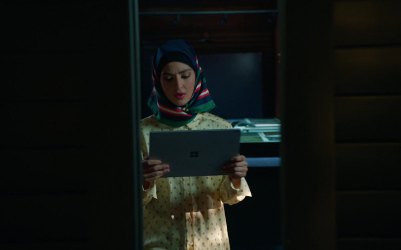 Microsoft Surface Tablet of Medalion Rahimi as Fatima Namazi in NCIS Los Angeles S12E01 (2)