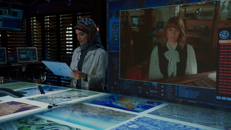 Microsoft Surface Tablet of Medalion Rahimi as Fatima in NCIS Los Angeles S12E02