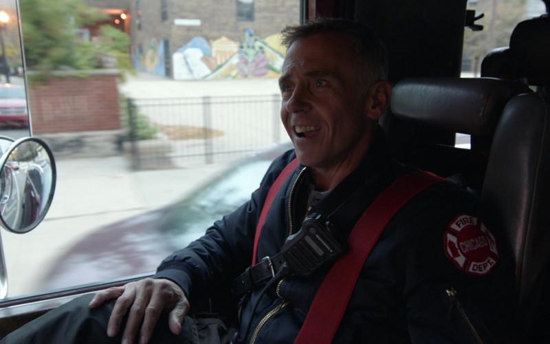 Motorola Radio of David Eigenberg as Lieutenant Christopher Herrmann in Chicago Fire S09E02 That Kind of Heat (2020)