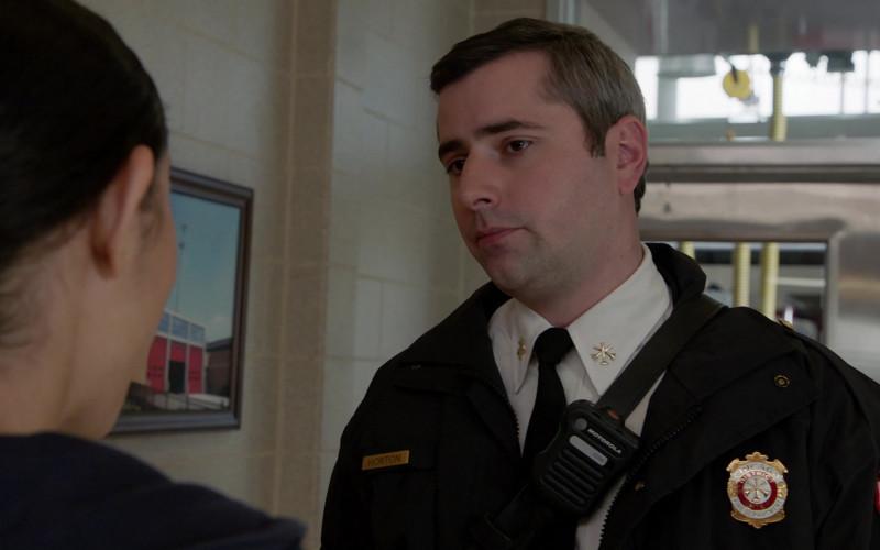 Motorola Radio of Matt Fletcher as Captain Horton in Chicago Fire S09E01 Rattle Second City (2020)