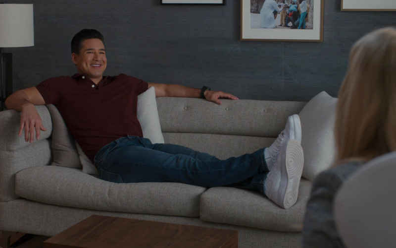 Nike Air Force White Sneakers of Mario Lopez as A.C. Slater in Saved by the Bell S01E07