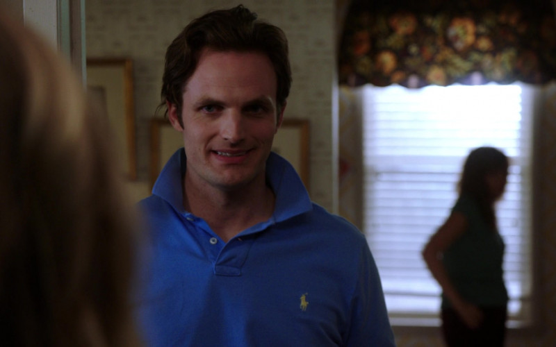 Ralph Lauren Blue Polo Shirt of Peter Hargrave as Joe Murphy in Law & Order SVU S22E01 Guardians and Gladiators