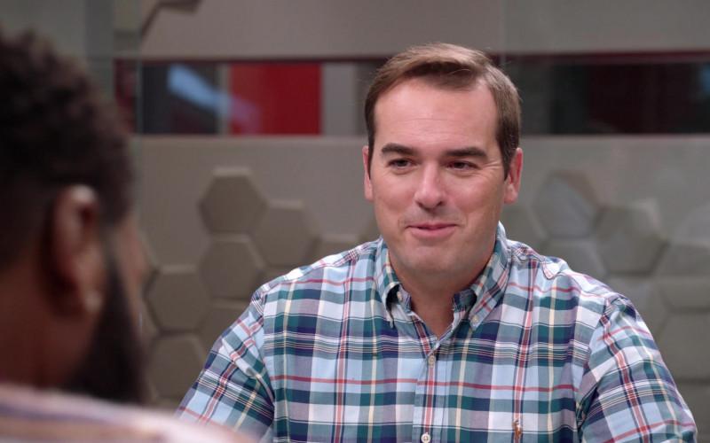 Ralph Lauren Plaid Checkered Shirt of Jeff Meacham as Josh Oppenhol in Black-ish S07E03 TV Show (1)