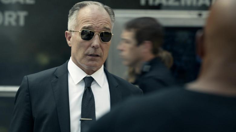 Randolph Aviator Gold Sunglasses of Patrick St. Esprit as Commander Robert Hicks in S.W.A.T. S04E01 (1)