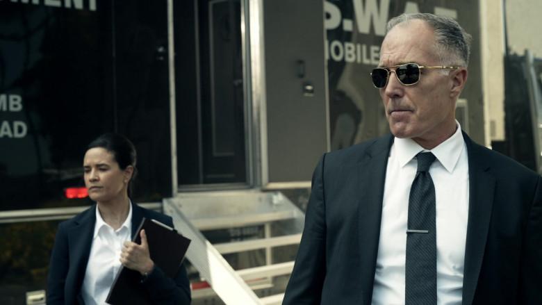Randolph Aviator Gold Sunglasses of Patrick St. Esprit as Commander Robert Hicks in S.W.A.T. S04E01 (2)