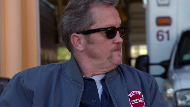 Ray-Ban Sunglasses of Christian Stolte as Senior Firefighter Randall 'Mouch' McHolland in Chicago Fire S09E01 (3)