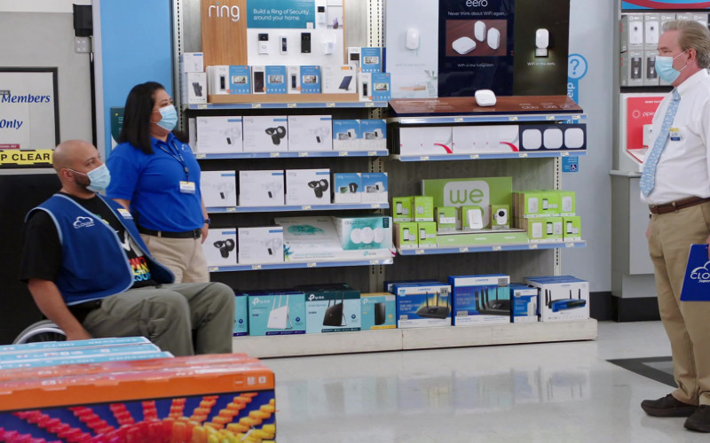 Ring, Eero, TP-Link, WE, Linksys, Piper in Superstore S06E03 Floor Supervisor (2020)