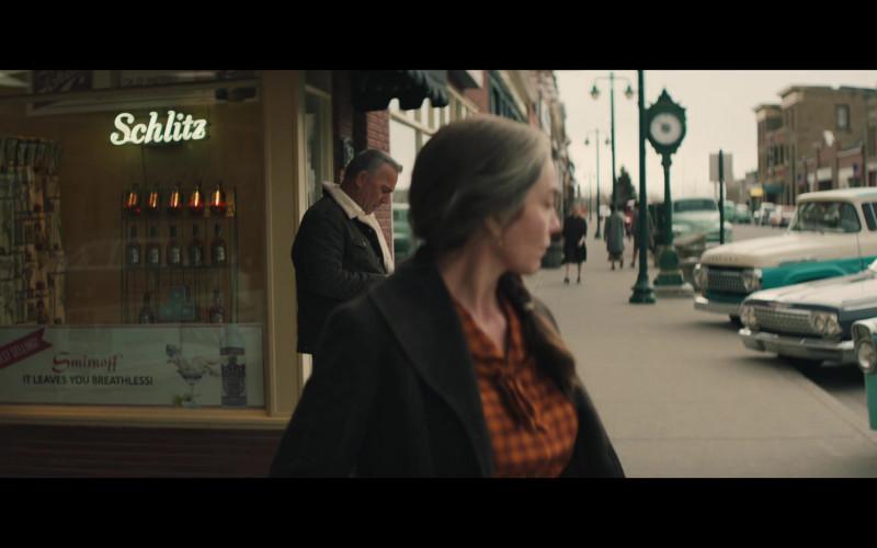 Smirnoff Vodka Poster and Schlitz Beer Sign in Let Him Go Movie (2)