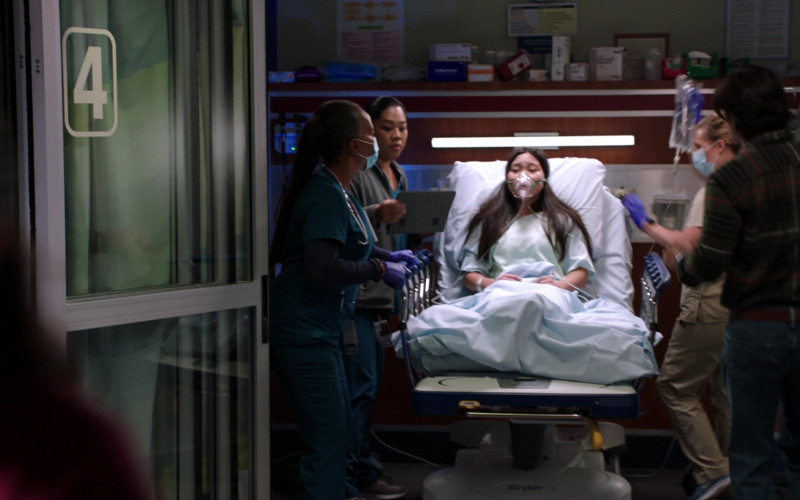 Stryker Hospital Bed in Chicago Med S06E01 When Did We Begin to Change (2020)