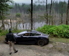 Tesla Model S Car of Terry Chen as Mitchell Banks in Big Sky...