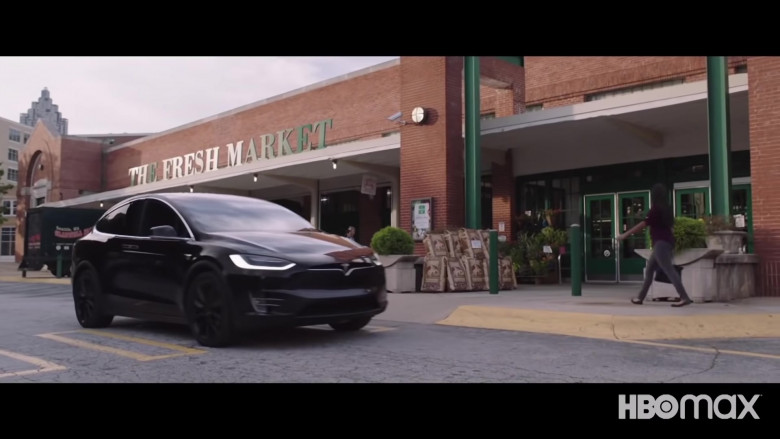 Tesla Model X Black Car in Superintelligence 2020 Movie (1)