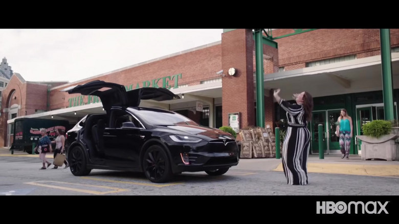 Tesla Model X Black Car in Superintelligence 2020 Movie (2)