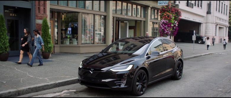 Tesla Model X P100D Black Car of Melissa McCarthy in Superintelligence Movie (10)