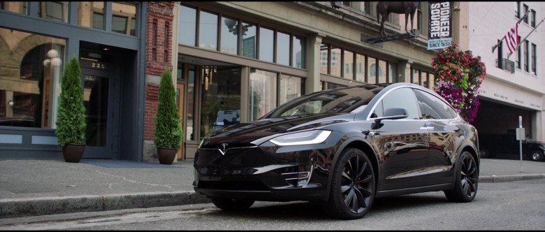 Tesla Model X P100D Black Car of Melissa McCarthy in Superintelligence Movie (11)