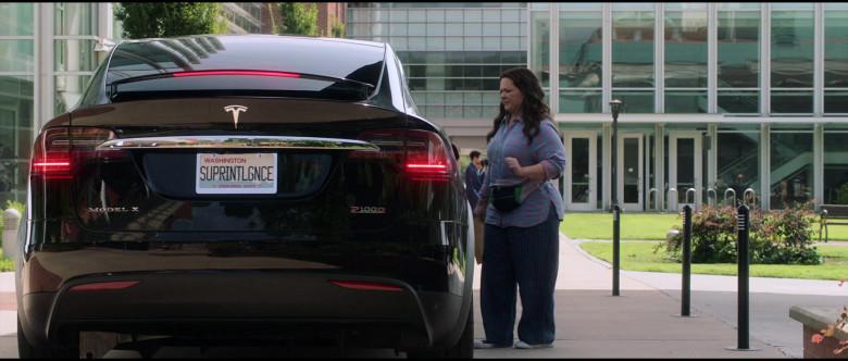 Tesla Model X P100D Black Car of Melissa McCarthy in Superintelligence Movie (2)
