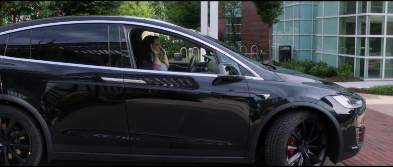 Tesla Model X P100D Black Car of Melissa McCarthy in Superintelligence Movie (3)