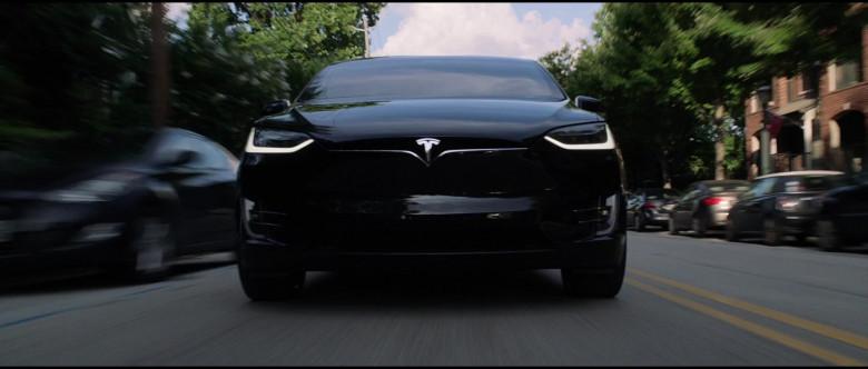 Tesla Model X P100D Black Car of Melissa McCarthy in Superintelligence Movie (4)