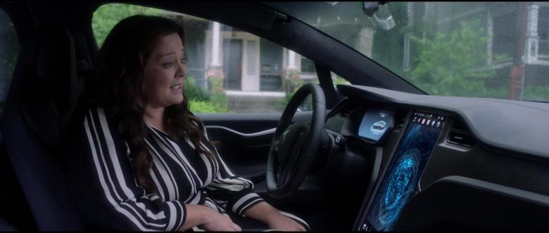 Tesla Model X P100D Black Car of Melissa McCarthy in Superintelligence Movie (7)