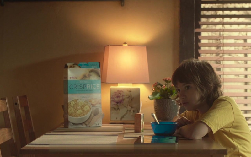 Tops Crisp Rice Cereal Enjoyed by John Gallagher Jr. as Marty in Come Play (2020)