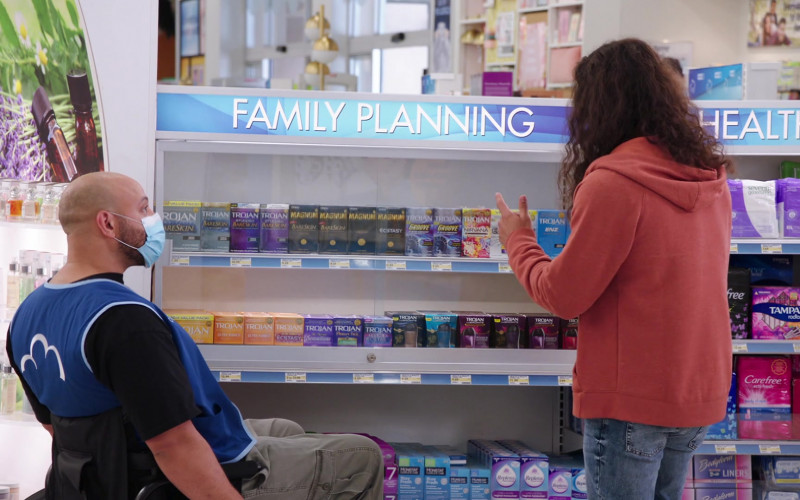 Trojan, Magnum, Tampax, Carefree in Superstore S06E03 Floor Supervisor (2020)