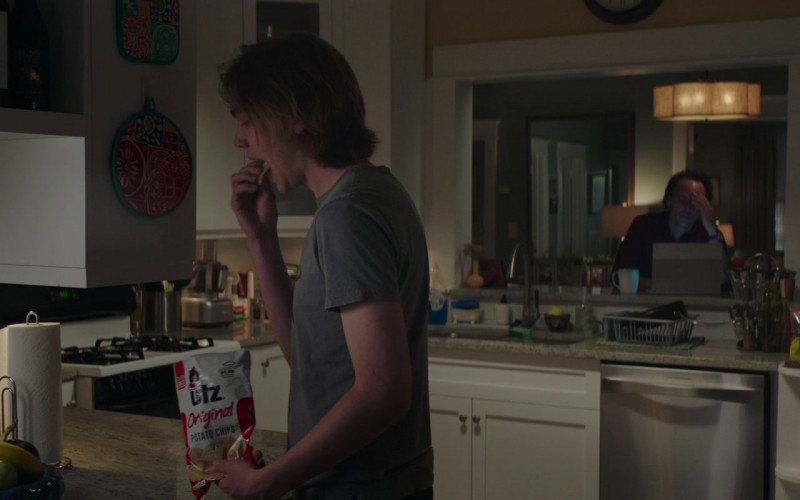 UTZ Chips Enjoyed by Charlie Plummer as Adam in Words on Bathroom Walls (2020)