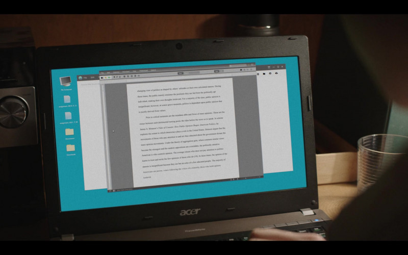 Acer Laptop of Nick Robinson as Eric Walker in A Teacher Episode 7 (1)