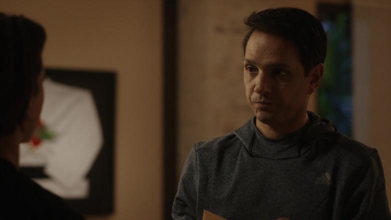 Adidas Men's Hoodie of Ralph Macchio as Daniel LaRusso in Cobra Kai S01E06 (3)