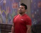 Adidas Red T-Shirt of Jacob Vargas as Tony Ochoa in Mr. Igle...