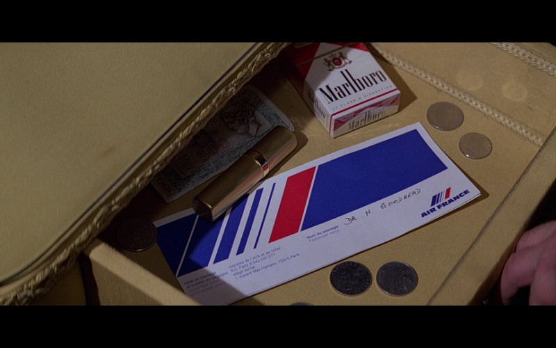 Air France Ticket and Marlboro Cigarettes in Moonraker (1979)