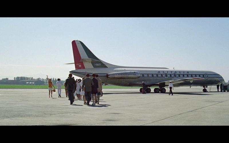 Alitalia Airline in The Italian Job (1969)