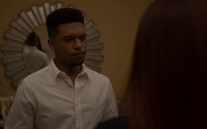 AllSaints Men's Shirt Outfit of Lovell Adams-Gray as Dru Tejada in Power Book II Ghost S01E08