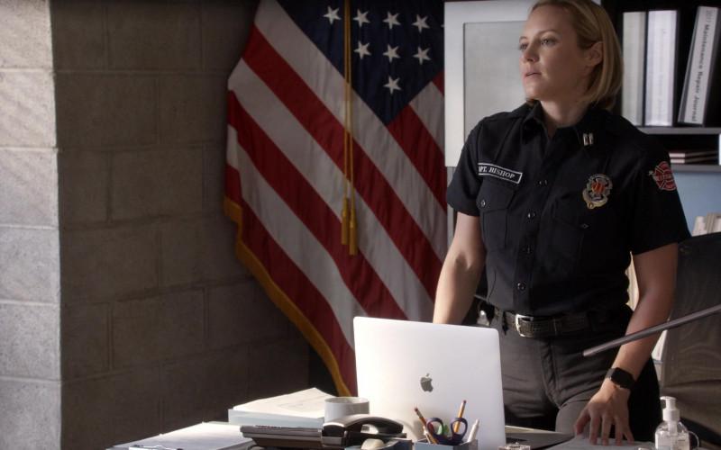 Apple MacBook Laptop of Danielle Savre as Maya Bishop in Station 19 S04E03 (2)
