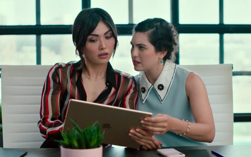 Apple iPad Tablet of Daniella Pineda as Kate Carrera in Modern Persuasion (2020)