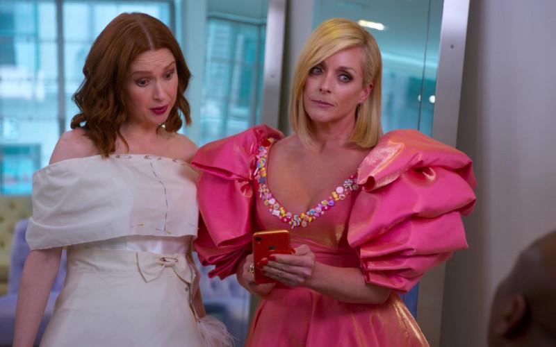 Apple iPhone Smartphone of Jane Krakowski as Jacqueline White in Unbreakable Kimmy Schmidt Kimmy vs the Rever