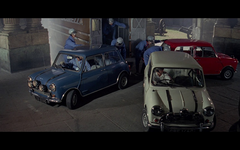 Austin Mini Cooper S 1275 Cars in The Italian Job 1969 Film (1)