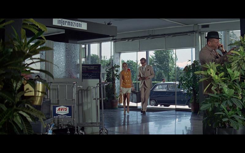 Avis Ad on Baggage Trolley in The Italian Job (1969)