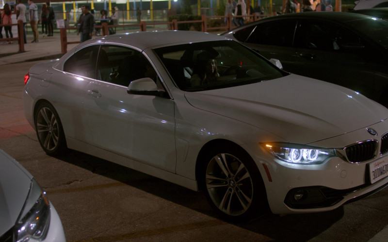 BMW 4-Series Convertible White Car of Mary Mouser as Samantha LaRusso in Cobra Kai S01E07