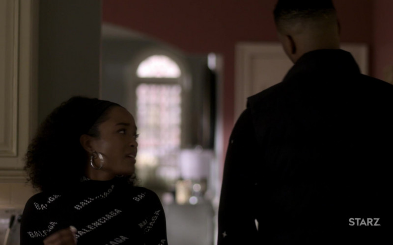 Balenciaga Women's Turtleneck Sweater of LaToya Tonodeo as Diana Tejada in Power Book II Ghost S01E09 (1)