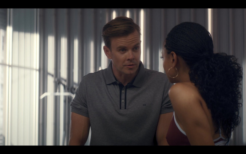 CK Men's Polo Shirt of Morgan Kelly as Alan Renfrew in Tiny Pretty Things S01E01