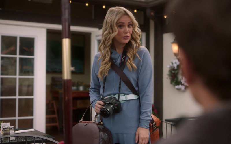 Canon Camera of Natalie Hall as Aubrey Lang in A Very Charming Christmas Town (1)