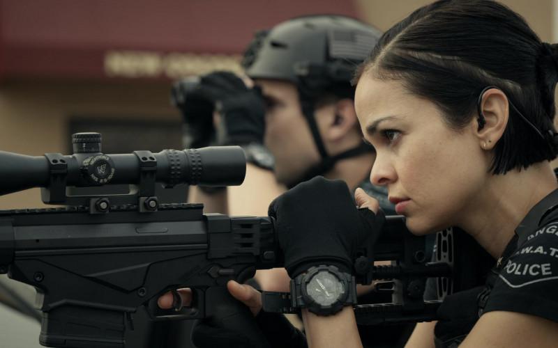 Casio G-Shock GA100 Watch of Lina Esco as Chris in S.W.A.T. S04E06 Hopeless Sinner (2020)