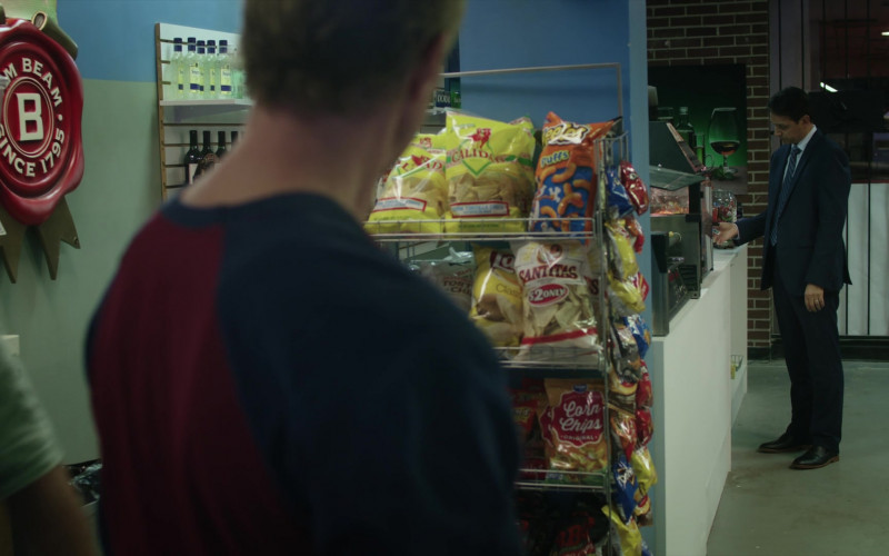 Cheetos, Santitas and Kroger Original Corn Chips in Cobra Kai S01E05